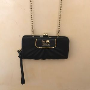 Satin Clutch/Crossbody Evening Bag